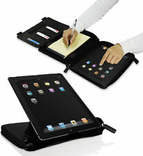MACALLY BLACK ORGANIZER CASE ROTATE STAND POCKETS FOR iPAD 2nd 3rd 4th GEN