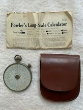 Fowler's Long-Scale double sided Calculator - With Case & Document