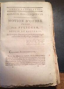 AMÉLIORATION DE L'AGRICULTURE FRANÇAISE par PFLIÉGER du HAUT-RHIN.1798.
