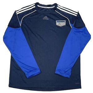 Kansas City Wizards Adidas Mens Shirt XXL Long Sleeve Training Soccer 2XL Jersey