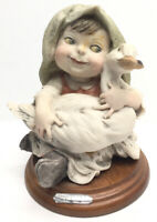 Giuseppe Armani Gullivers World Figurine Girl With Goose