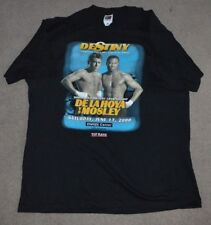 VTG Oscar De La Hoya vs Sugar Shane Mosley Shirt Destiny Boxing Match 2000
