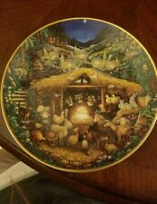 """franklin mint """"Away in a Manger"""" collectors plate"""