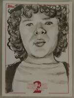 Dustin Stranger Things Series 2 Sketch Card Neil Camera Topps 1/1