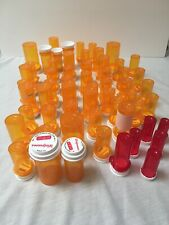 Lot If 58 Empty Medicine Bottles With Tops - Different Sizes