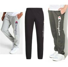 Champion Mens Graphic Jogging Bottoms Fleece Trousers Pants Elasticated Trim