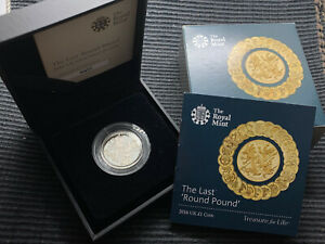 2016 The Last Round Pound SILVER PROOF £1 coin boxed CoA Royal Mint
