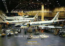UNITED AIRLINES BOEING 737 PRODUCTION LINE A3 POSTER PRINT PICTURE PHOTO IMAGE x