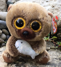 """Ty Beanie Boos - HENRY the 6"""" Brown Bear w/ Fish (2018 Canada Exclusive) NEW"""