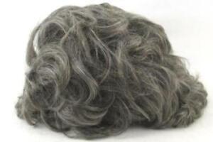 Vintage Old Lady Wig Gray Hair Modacrylic Fiber Hong Kong Costume Theater