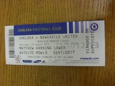 25/08/2012 Ticket: Chelsea v Newcastle United  (folded). Thanks for viewing this
