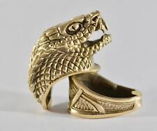 Snake Set Finger Guard & Knives Pommel Bronze Bolster for Custom Knife Handmade