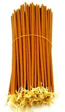 "100 Natural Beeswax Taper Candles 11"" Pure Wax Scented Thin Candles Holy Land"