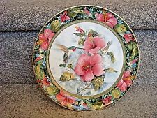 Franklin Mint heirloom - Royal Doulton - Imperial Hummingbird collectible plate