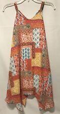 Speechless Girls Sleeveless Dress Multicolor Patch Print Size 10 Polyester NWOT