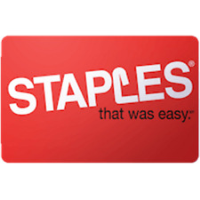 Staples Gift Card $50 Value, Only $48.00! Free Shipping!