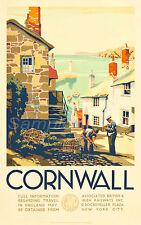 Vintage GWR Penzance Cornwall Railway Poster A4//A3//A2//A1 Print