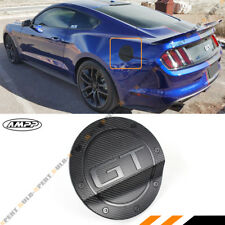 For 15-17 Ford Mustang 3D GT Carbon Fiber Texture Add-on Gas Fuel Door Cover Cap