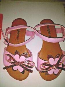 KIDS CHILDRENS GIRLS INFANTS SUMMER SANDALS PINK GLITTER STRAPPY SIZE 7 8 9  NEW
