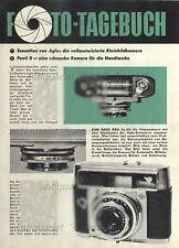 Agfa selecta-M/iloca auto Electric + Pentacon Penti II-ORIG. informe de 1962