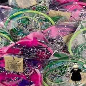 Joblot Wholesale 10 x Dream Catchers Pink Purple Green Cream Fuchsia Brand New