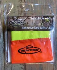 Team Realtree Dog Field Safety Coat Reflective Blaze Orange Size Small 1-18 lbs