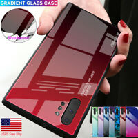 Samsung Galaxy S20 Ultra Note 10+ S9 Hybrid Tempered Glass Case Shockproof Cover