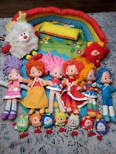 Vintage Rainbow Brite Starlight Lot House Carrying Case 6 Dolls 1983 9 Sprites