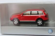 VERY RARE VW TOUAREG 7L I V10 TDI 4-MOTION 2003 RED 1:87 WIKING (DEALER MODEL)