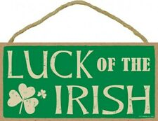 """LUCK OF THE IRISH Lucky Shamrock 10""""x5"""" NEW Wood Hanging Sign Gift Home 906"""