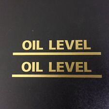 OIL LEVEL Classic Vintage Retro Motorcycle Sticker Decal  75mm - 1 Pair