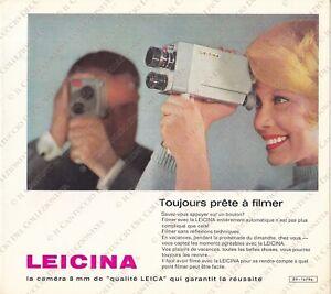 Leitz Leica LEICINA Camera filmer 8 mm Description *depliant