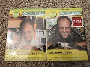 NEW! Good Eats Alton Brown 3-Disc Set Cupboard Classics Meats Collection DVD Lot