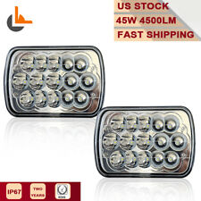 "2pcs 7x6"" LED Projector Headlight CREE Led Sealed Beam Replacement DOT Approved"