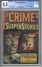 🔥 🔥CRIME SUSPENSTORIES #27 CGC 3.5_EC COMICS_1950_PRE-CODE CRIME 🔥🔥