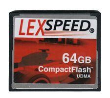 LexSpeed Compact Flash Card 64GB UDMA HD Ready