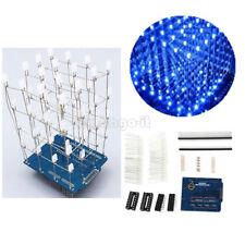 3D LED 4X4X4 Light Cube Square DIY Suite Kit Set Arduino Shield LED Precise Blue