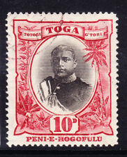 TONGA 1897 SG49 10d black & lake - watermark inverted - very fine used. Cat £45