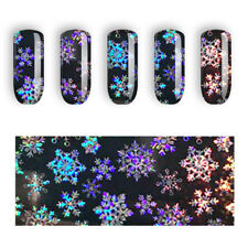 Fancy Colot Snowflake Nail Art Sticker Christmas Foils Transfer Decals Decor @My