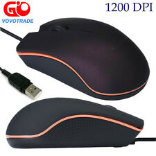 Optical USB Wired 3 Keys Ergonomic Gaming Game Mouse Mice for PC Laptop Computer