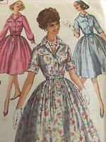 1950s Simplicity 3039 Vintage Sewing Pattern misses Dress Size 15 Bust 35