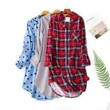 Women's Christmas Sleepwear 100% Cotton Flannel Nightshirt Nightgown Nightdress