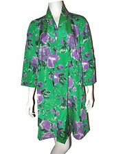 PATRICIA FIELD Floral Lightweight Green Jacket Silk / Cotton Size 6
