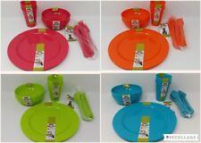 EDGO Pic&go Plastic Cutlery Plates Bowls Cups Pastel Colour Party Picnic BBQ