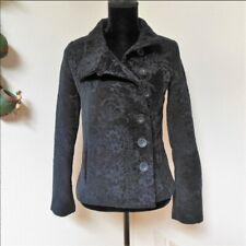 DESIGUAL Black Ornate Floral Jacquard Blazer Jacket Size 8 UK
