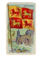 Vintage Sweet Caporal Little Cigars WALES Flags Of All Nations Card