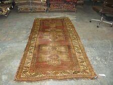 Antique Turkish Oushak Ushak Sarab Hand Knotted Wool Rug Runner 3'-9 x 8'-9