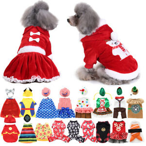 Cute Mini Pets Sweater Jacket Coat Christmas Party Dogs Cat Clothes Warm Apparel