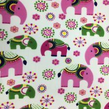 Anti píldora paño grueso y suave tela Elefantes Animal Huellas Material Suave De Calidad Premium
