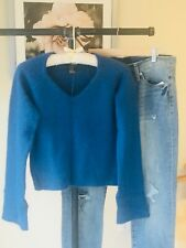 Reference Point Blue Pullover Sweater Soft Angora Women's Size M - NWT